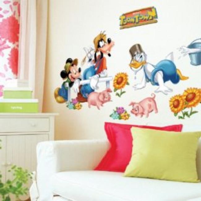 Bekend Muurstickers | Mickey Mouse en Vrienden | MooieMuurstickers.nl VV12