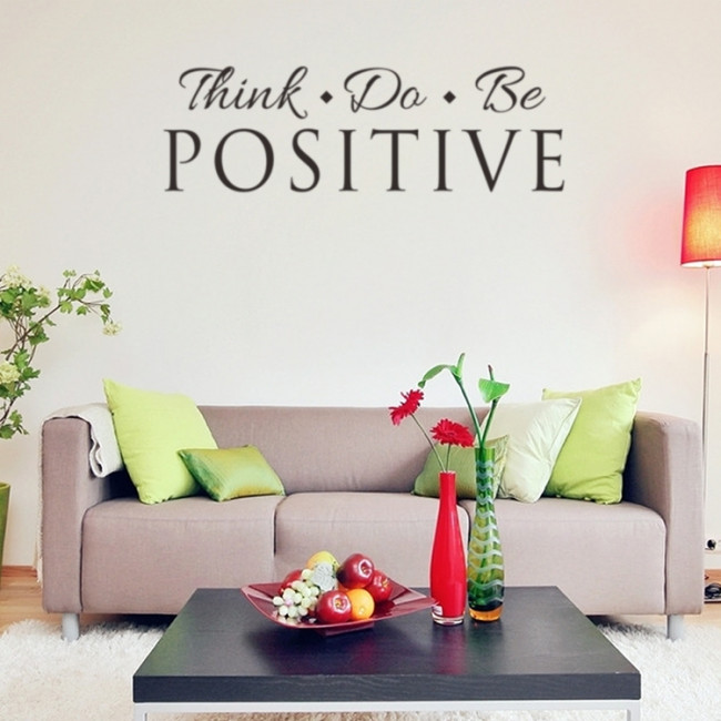 Tekst Stickers Muur.Muurstickers Think Do Be Positive Teksten Quotes