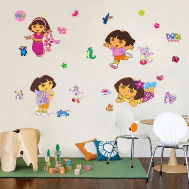 Dora Behang Kinderkamer.Muursticker Dora The Explorer Muurstickers Kinderkamer Babykamer