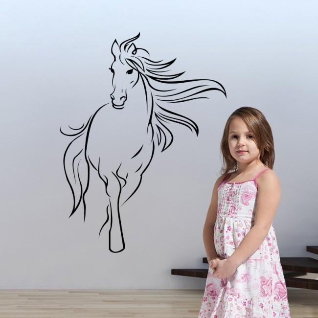 Paarden Sticker Muur.Muurstickers Paard Zwart Muurstickers Kinderkamer