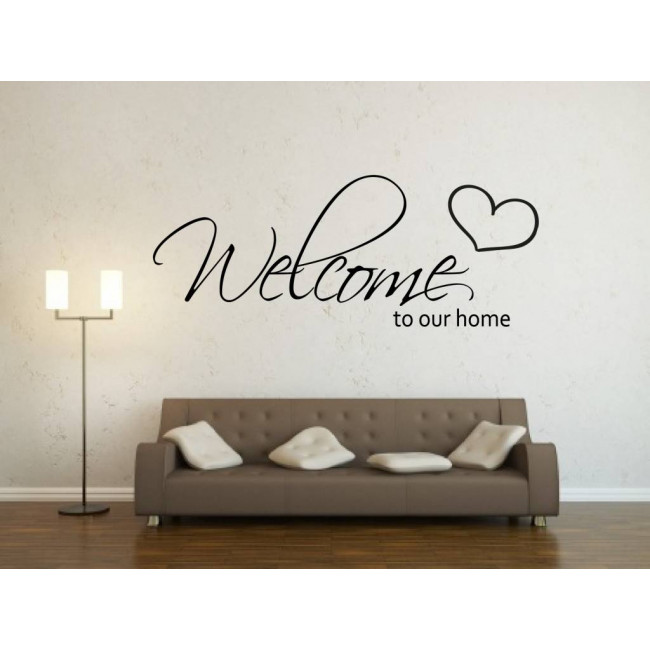 Tekst Stickers Muur.Muurstickers Welcome To Our Home Mooiemuurstickers Nl