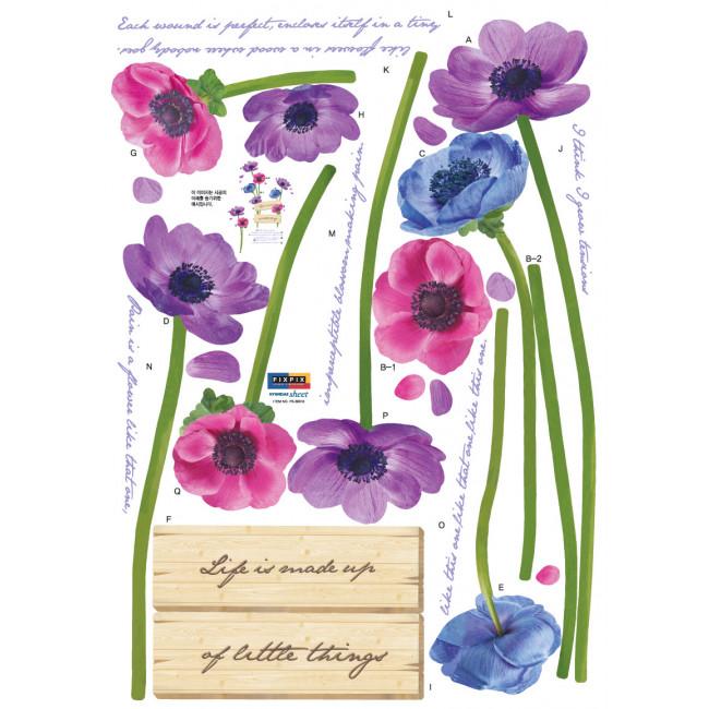 muurstickers bloemen amp gedicht mooiemuurstickersnl