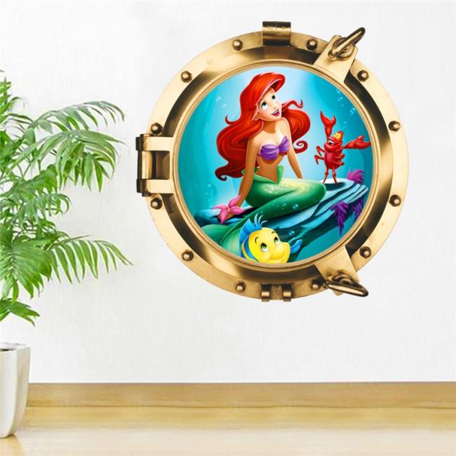 Stickers Kinderkamer Disney.Muurstickers Disney Kleine Zeemeermin Kinderkamer Decoratie