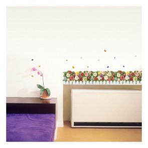 muursticker bloemen bloementuin