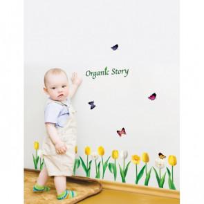 tekst muurstickers Organic Story