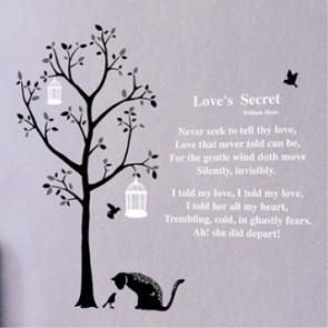 muurstickers dieren gedicht & boom