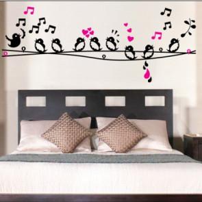 muurstickers dieren zingende vogeltjes