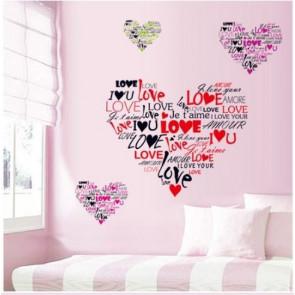 muurstickers slaapkamer harten