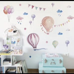 Muursticker Luchtballonnen