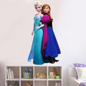 Muursticker Frozen Elsa en Anna