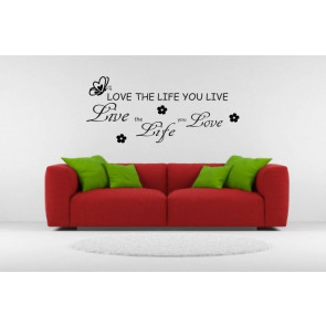 tekst muurstickers love the life you live