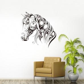 Muursticker Paardenhoofd abstract