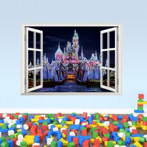 3D Raam Sprookjeskasteel