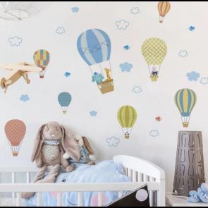 Muursticker met luchtballonnen