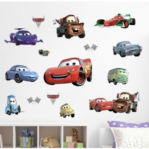 Muursticker Cars Family