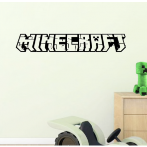 Muursticker Games Minecraft 3D Tekst