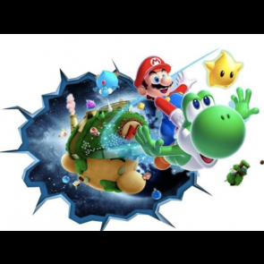 Super Mario 3D - Mario - Yoshi - Lucht - Muursticker - Kinderkamer - Decoratie