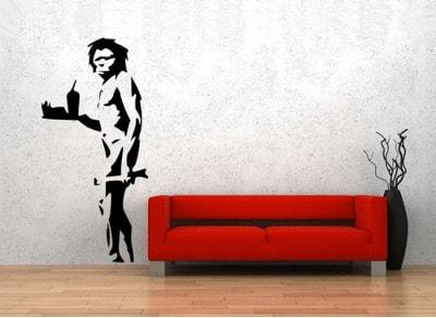 Goedkope Banksy Muurstickers