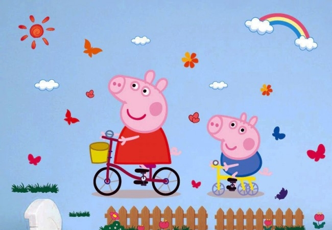 Muursticker Peppa Big