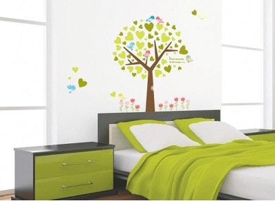 goedkope muurstickers slaapkamer