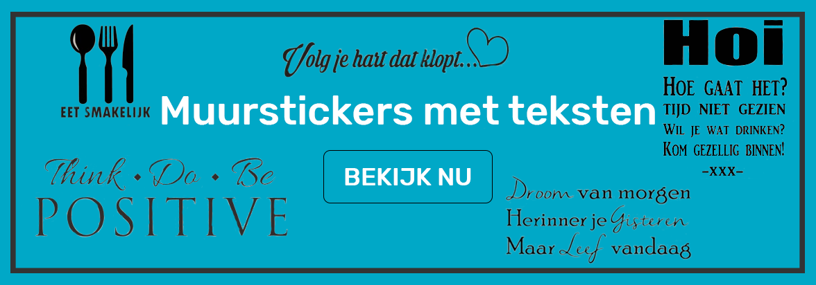 Teksten & quotes muurstickers